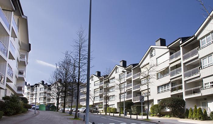 Imagen de las viviendas construidas en Berio