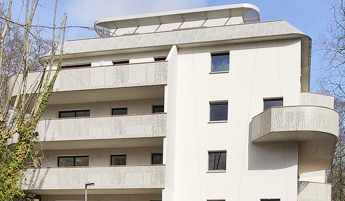 Edificio del complejo residencial Egurrean E Ederra